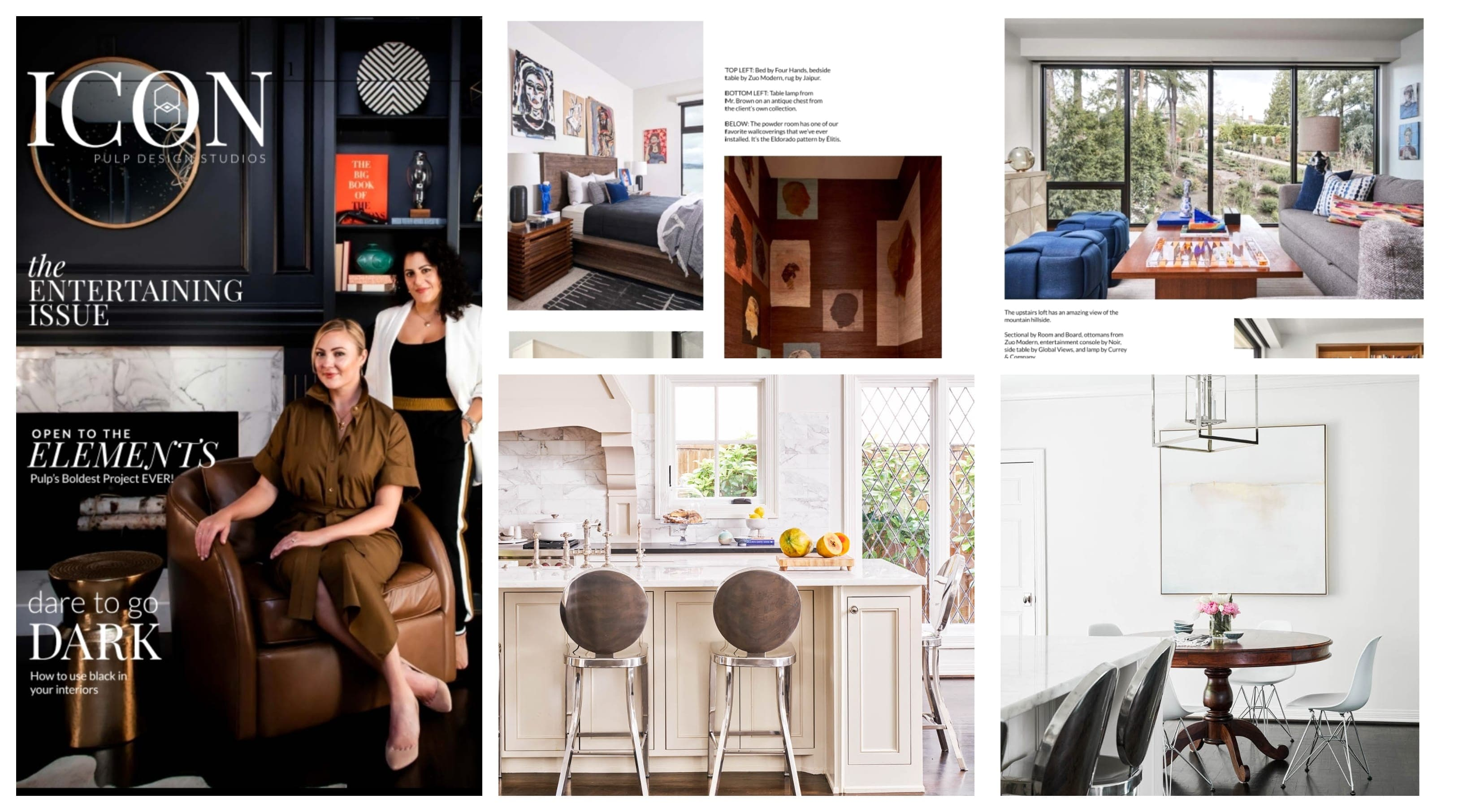 Pulp Design Studio Features ZUO in ICON's First Entertaining Issue