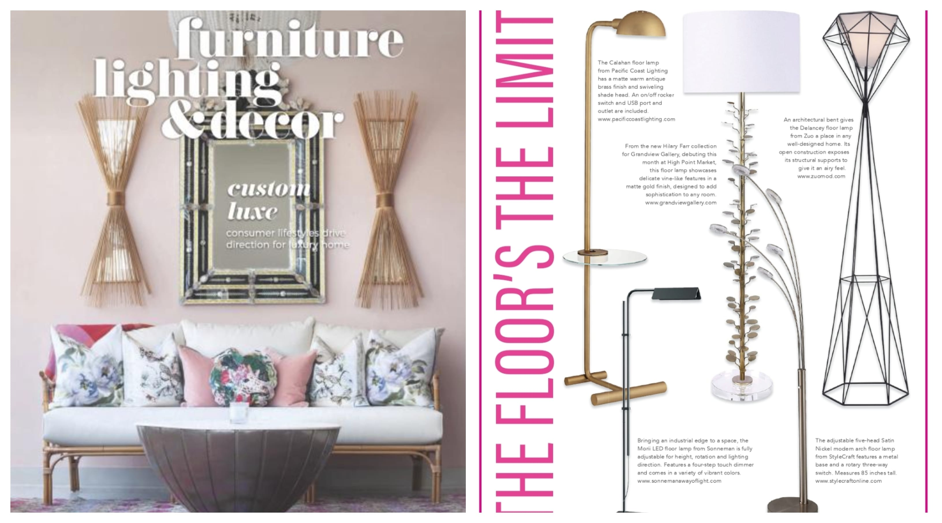 Furniture Lighting andand Decor Features Delancey Floor Lamp