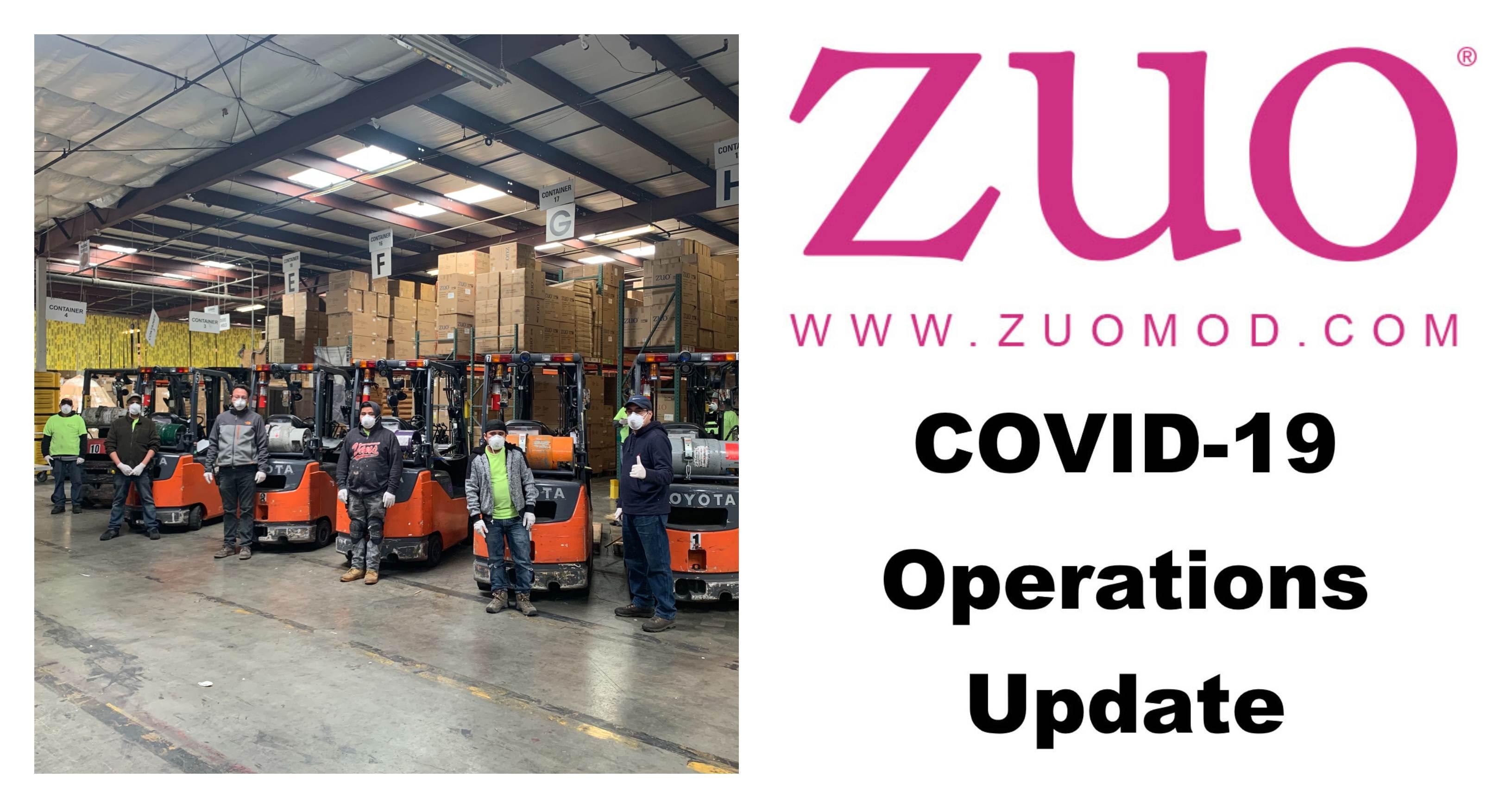 COVID-19 ZUO Operations Update
