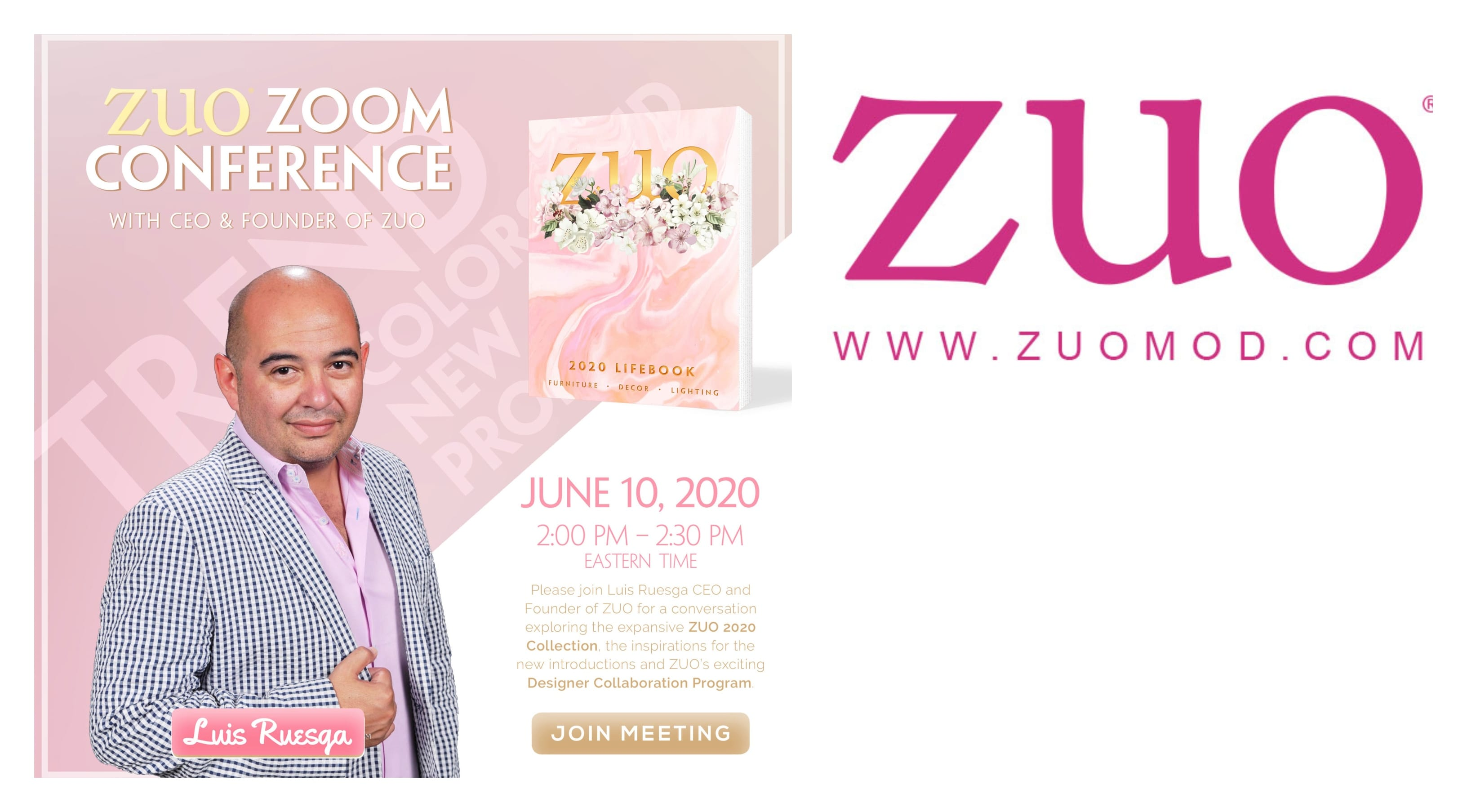 ZUO in partnership with DesignerInc invites the design community to see what's new