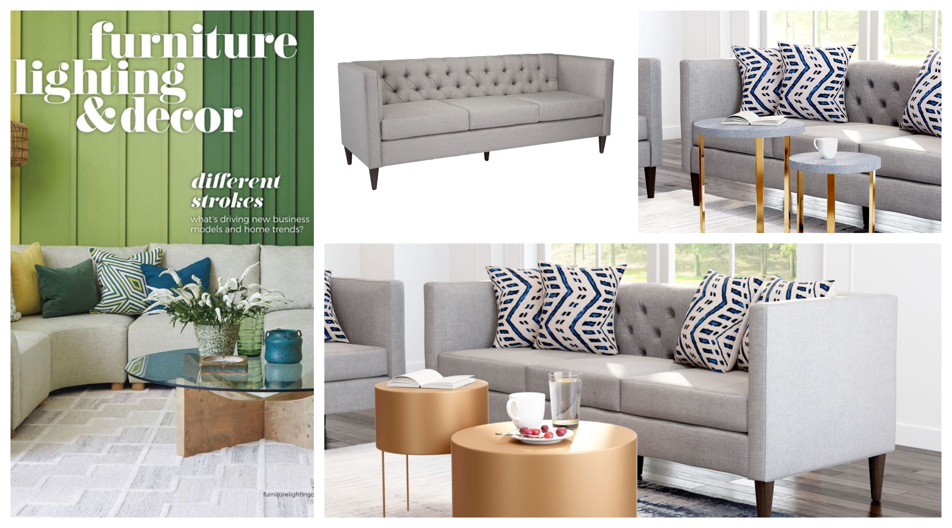 FURNITURE LIGHTING andand DÉCOR FEATURES ZUO'S GRANT SOFA IN JULY 2019 ISSUE