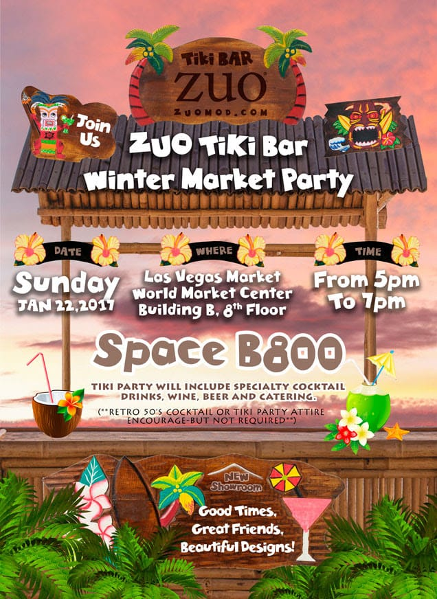 ZUO Announces Winter Tiki Bar Party during Las Vegas Market!